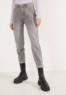Bershka - MOM - Straight leg jeans - metallic grey