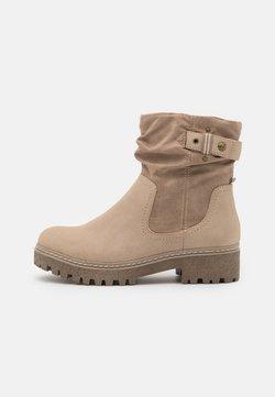s.Oliver - Platform ankle boots - taupe