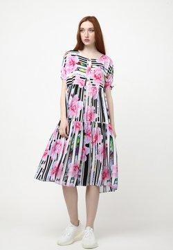 Madam-T - ABELYA - Freizeitkleid - weiß, rosa