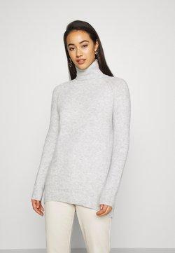 Vero Moda - VMPLAZA ROLLNECK LONG - Sweter - light grey melange