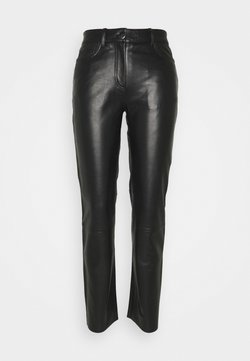 STUDIO ID - GRETA TROUSERS - Pantalon en cuir - black