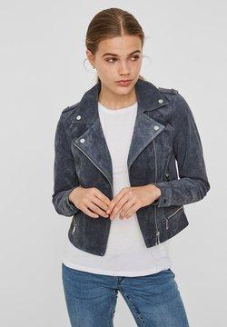 Vero Moda - Veste en cuir - ombre blue