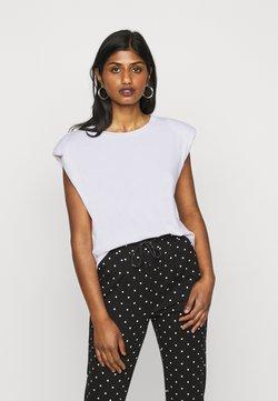 ONLY Petite - ONLPERNILLE SHOULDER  - Camiseta básica - white