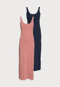 Vero Moda Petite - VMNANNA ANCLE DRESS PETITE 2 PACK - Maxi dress - old rose/navy blazer