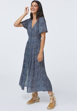 OYSHO - LONG LILAC FLORAL - Freizeitkleid - dark blue
