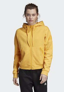 adidas Performance - ID MÉLANGE HOODIE - Sweatjacke - yellow