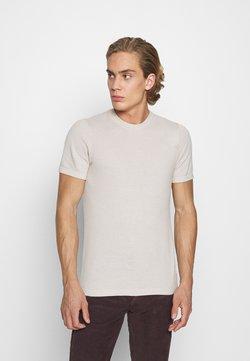Abercrombie & Fitch - TEE - T-shirt print - Tan