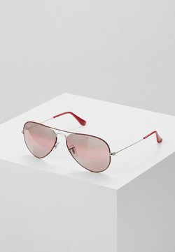 Ray-Ban - 0RB3025 AVIATOR - Aurinkolasit - silver-coloured/bordeaux