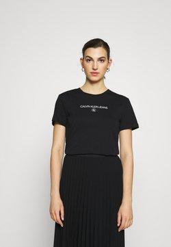 Calvin Klein Jeans - ROUND TEE - T-shirt con stampa - black