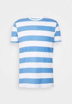 Brave Soul - T-shirt con stampa - sapphire blue/white