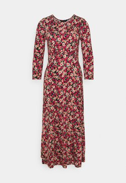Dorothy Perkins - DITSY 3/4 SLEEVE EMPIRE SEAM MIDI DRESS - Vestido ligero - pink