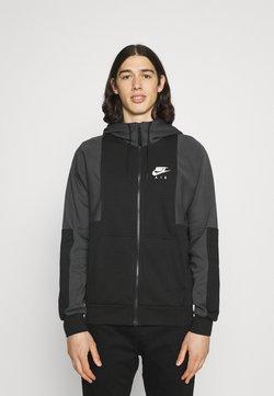 Nike Sportswear - AIR HOODIE - Sweatjacke - black/anthracite