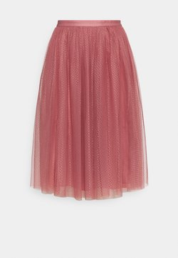 Needle & Thread - DOTTED MIDI SKIRT - A-Linien-Rock - rouge