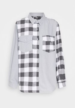 Missguided Petite - CONTRAST CHECK - Bluse - light blue