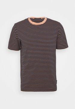 Scotch & Soda - CLASSIC CREWNECK STRIPE TEE - T-Shirt print - black