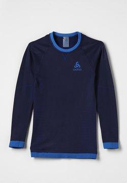 ODLO - CREW NECK PERFORMANCE WARM KIDS  - Unterhemd/-shirt - diving navy /energy blue