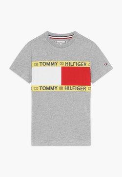 Tommy Hilfiger - FLAG - T-shirt print - grey