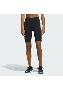 adidas Performance - BELIEVE THESE 2.0 3-STRIPES SHORT TIGHTS - Tights - black