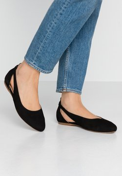 Anna Field Wide Fit - LEATHER BALLERINAS - Ballerinat - black