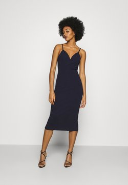 WAL G. - ANNALISE HIGH SPLIT MIDI - Freizeitkleid - navy