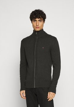Tommy Hilfiger - CHUNKY ZIP THROUGH - Gilet - grey