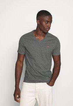 Levi's® - VNECK - T-shirt imprimé - charcoal heather