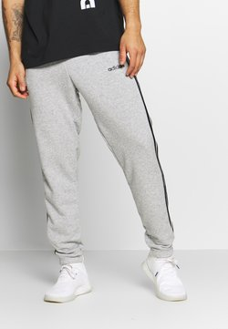 adidas Performance - ESSENTIALS 3STRIPES FRENCH TERRY SPORT PANTS - Spodnie treningowe - medium grey heather/black