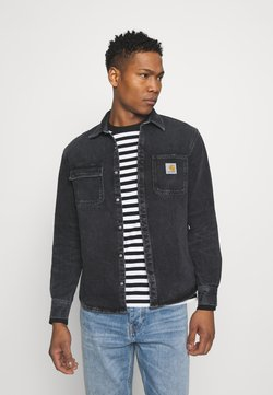 Carhartt WIP - SALINAC SHIRT JAC MAITLAND - Camicia - black middle worn wash