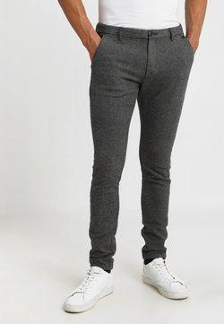 Selected Homme - SLIM ARVA HOUNDSTOOTH PANTS - Stoffhose - grey