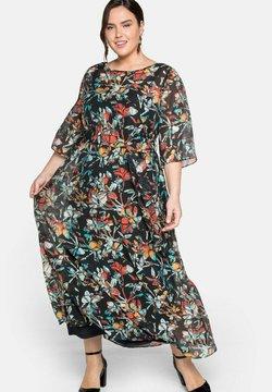 Sheego - Cocktailkleid/festliches Kleid - schwarz gemustert