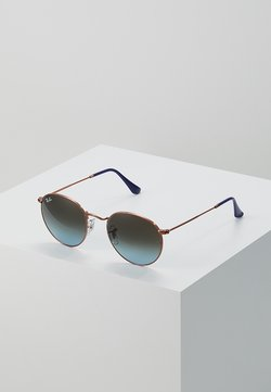 Ray-Ban - 0RB3447 ROUND METAL - Solbriller - blue gradient brown