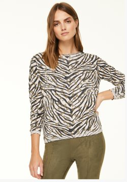 comma casual identity - Strickpullover - khaki zebra and flower