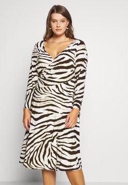 Lauren Ralph Lauren Woman - POLLY DAY DRESS - Jerseykleid - cream/brown