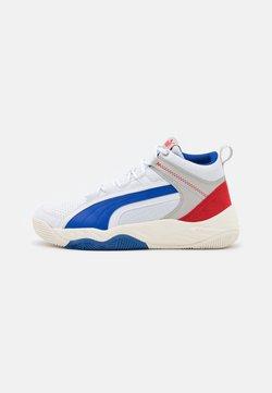 Puma - REBOUND FUTURE EVO UNISEX - Sneaker high - white/surf the web/high risk red/gray violet