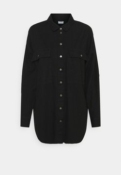 Noisy May - NMFLANNY LONG SHACKET - Camicia - black denim