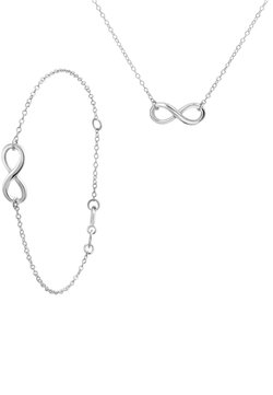 Lucardi - SET INFINITY - Ketting - zilver