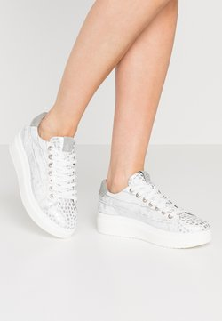 Tamaris - LACE-UP - Trainers - silver
