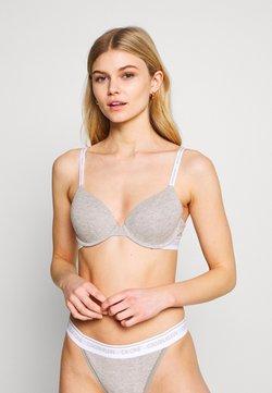 Calvin Klein Underwear - ONE LIGHTLY LINED DEMI - Push-up BH - grey heather