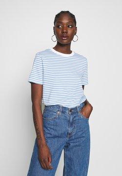 Selected Femme - SFMY PERFECT TEE BOX CUT - T-Shirt print - della robbia blue/snow white
