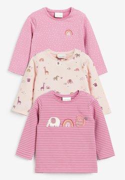 Next - 3 pack - Camiseta de manga larga - pink