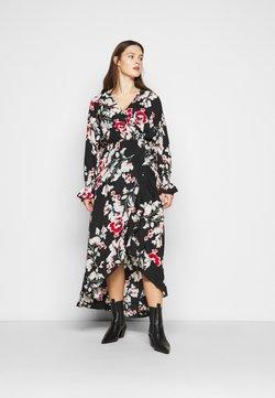 Missguided Plus - WRAP HIGH LOW MAXI DRESS - Freizeitkleid - multi