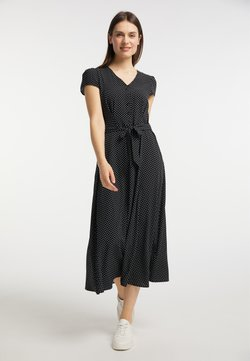 usha - Blusenkleid - schwarz
