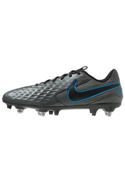 Nike Performance - TIEMPO LEGEND 8 ACADEMY SG-PRO AC - Fotbolsskor skruvdobbar - black/blue hero