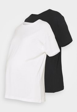 MAMALICIOUS - MLMARYANN 2 PACK  - T-shirt basic - snow white