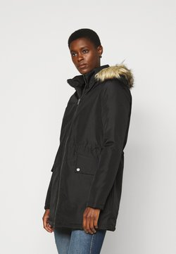 Noisy May Tall - NMOCTAVIA LONG JACKET - Wintermantel - black