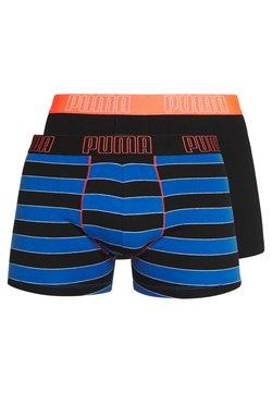 Puma - BOLD STRIPE BOXER 2 PACK - Panties - blue / orange