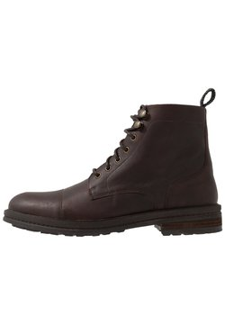 Walk London - WOLF TOE CAP - Schnürstiefelette - thunder brown
