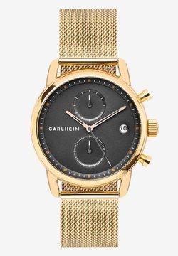 Carlheim - NICHOLAS  - Rannekello ajanottotoiminnolla - rose gold/black