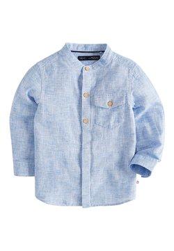 Next - BLUE LONG SLEEVE LINEN MIX GRANDAD SHIRT (3MTHS-7YRS) - Camisa - blue
