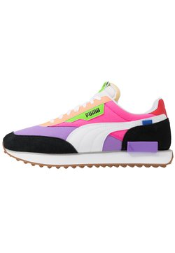Puma - FUTURE RIDER PLAY ON UNISEX - Sneakers laag - luminous purple/fluo pink